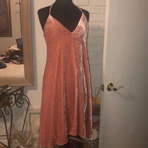 Theory Pink Velvety Stretch Dress Size 8 New